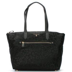 Michael Kors Bags - Michael Kors Kelsey black animal print tote bag